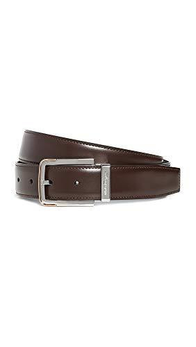 [해외]Salvatore Ferragamo 남성용 실버 버클 양면 벨트 / Salvatore Ferragamo Men`s Silver Buckle Reversible Belt, BlackBrown, 38