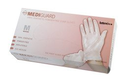 [Itm] Large [Acsry To]: MediGuard Select Synthetic Exam Gloves - MediGuard Powder... see description