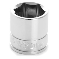 Wilmar (WLMW38220) Chrome Socket, 3/8