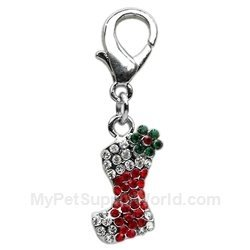 Mirage Pet Products Holiday Lobster Claw Charms/Zipper pulls Stocking