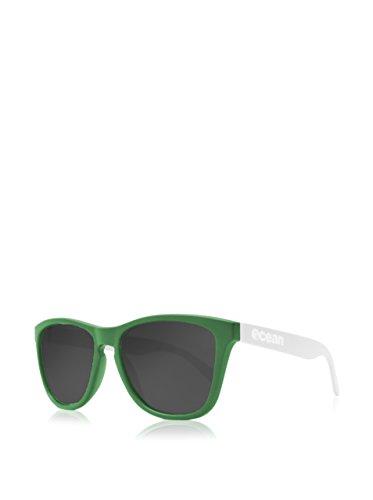 Sea Color única Unisex Amarillo Gafas Patillas de mate Ahumada Verde Sunglasses Ocean mate Talla Sol Verde blanco 5xqUYpF