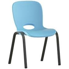 Contemporary Childrens Stacking Chair (Glacier Blue) LIFETIME