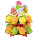 Wilton 1512-0724 2-Tier Treat Stand, Ice Cream ()