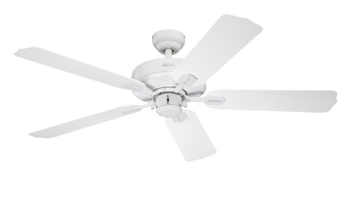 Westinghouse 7228000 Willow Breeze Five-Blade Indoor/Outdoor Ceiling Fan, 52-Inch, White Finish