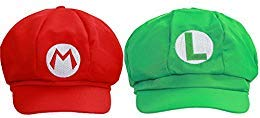 XCOSER Classical Super Bro Hat Cap for Halloween Costume Green and Red for $<!--$18.89-->