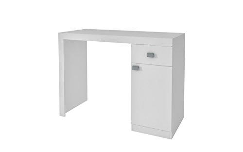 Manhattan Comfort Modena Classic Office Work Desk With Drawer and 2 Shelf Door Enclosed Cabinet, - Table Doors Work