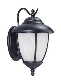 Yorktown Vanity - Sea Gull Lighting 84050EN3-12 Yorktown One Light Outdoor Wall Lantern, Black