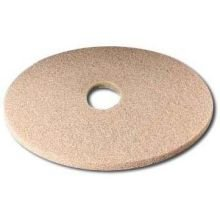 3M Ultra High-speed Tan Burnishing Floor Pad 3400 - Round, 27 inch Diameter, 1 inch Thick, Non Woven Polyester Fiber, Perforated Center Hole, Best Mark Removal -- 5 per case.