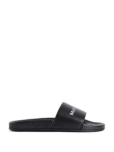Balenciaga Luxury Fashion Man 530501WAL001006 Black Rubber Sandals | Season Permanent