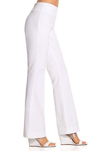 Boston Proper Women's Everyday Side Zip Stretch Twill High-Rise Bootcut Pant White 14 Regular ()