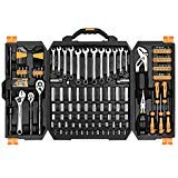 DEKOPRO 192 Piece Mechanics Tool Set Socket Wrench Set,Auto Repair Hand Tool Kit Wrench Tool Box Set with Plastic Storage Case by DEKOPRO