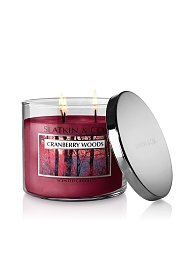 Bath and Body Works Slatkin & Co Three Wick Scented Candle 14.5 Oz - Cranberry Woods