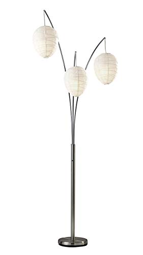 - Adesso 4108-22 Belle Arc 3-Light Floor Lamp - Chrome Finish Standing Lamp. Lighting Fixture. Home Decor Accessory
