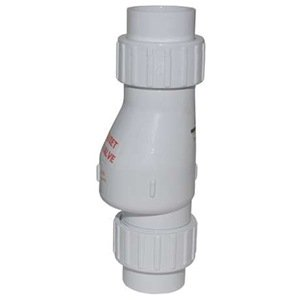 Check Valve, 2 In, Solvent Weld, PVC by Zoeller