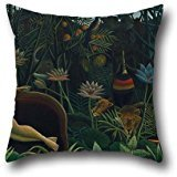 artistdecor Pillowcase of Oil Painting Henri Rousseau - Le Rêve,for Bedding,Outdoor,Kids Boys,Monther,seat,Father 20 X 20 Inches / 50 by 50 cm(Both Sides) ()