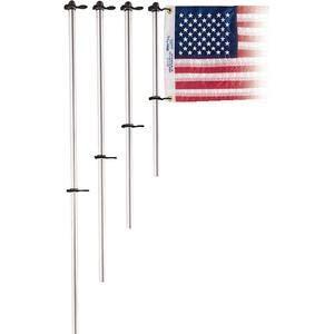 Taylor 917 ALUMINUM FLAG POLE WITH CLIPS / 30IN ALUM FLAG POLE