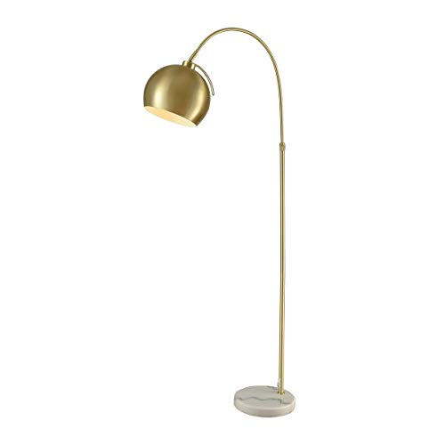 (Diamond Lighting D3363 Floor lamp Gold Metal, White Marble)