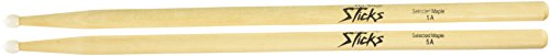 On-Stage Maple 5A Nylon Tip Drumsticks, 12 Pairs ()