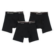 Champion Mens Boxer Brief - Champion Men's 3-Pack Smart Temp Boxer Brief, Black, Large