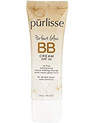 purlisse Perfect Glow BB Cream SPF 30 - BB Cream for All Skin Types - Smooths Skin Texture, Evens Skin Tone - Light, 1.4 Ounce