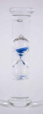 G.W. Schleidt STC8003-B Newton Gravity Glass Timer 3 Minute Blue Sand 10-Inch
