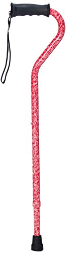 Carex Ergo Offset Cane with Soft Cushioned Handle - Adjustable Walking Cane for Women - Rose Pattern - http://coolthings.us