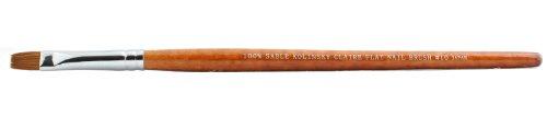 Sable Nail Flat (Creme 100% sable kolinsky claire flat nail brush #10)
