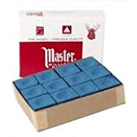 Masters Blue Billiard and Snooker Chalk - 12 Pieces Box by ARFA ®