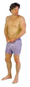 Dipsters patientwear, men's tie-waist shorts, xx-large, dozen