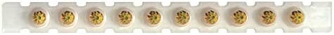 Hilti Powder Actuated Fastener Cartridge - .25 6.3/10 M Short - Strips of 10 - Yellow - Medium - Pack of 100 - 50107