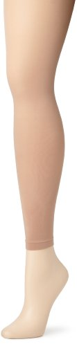 (Capezio Women's Ultra Soft Footless Tight,Light Suntan,Small/Medium)