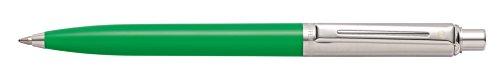 rrel and Brushed Chrome Cap Ballpoint Pen - Clamshell Packaging - Bright Green - E23218151CS (Metal Click Pen)
