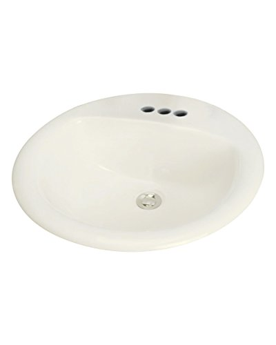Transolid TL-1564-08 Self-rimming Drop-in 4in Centerset Preston Lavatory in Biscuit