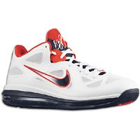 Nike Men's Nike Lebron 9 LOW Basketball Shoes 7.5 (White/...