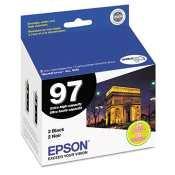 2 Pack Epson 97 Ink Cartridge (T097120) - OEM, Black, High Capacity