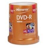 Memorex 100pk Dvd-R 16x 4.7gb