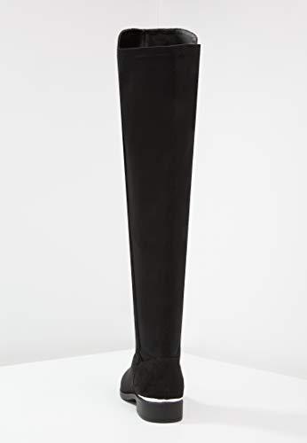Da Al Con Dettagli Similpelle Anna Field Nero Metallo Tacco Donna Eleganti Stivali Fino Ginocchio Alti Qualità In Piatto Di OqEORcwg1