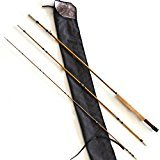 GUFIKY Bamboo Fly Fishing Rod Hand Crafted Split, 3 pieces, one tip, 5wt, 8`` (5wt Piece 3)