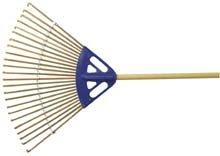 Bamboo Rake - 24 Inch Wide Head, 24 Tines