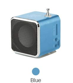 (Vapeonly TD-V26 Mini Speaker Portable MP3 Music Player with LCD Support FM Radio Micro TF SD Stereo Loudspeaker for Laptop Phone (Blue))
