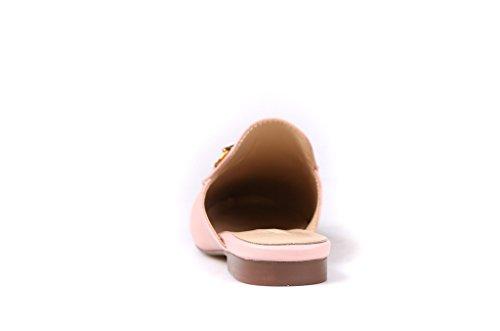 Matte Leather Blush Mules Bit Genuine Pan Kaitlyn q0Uw1Rx