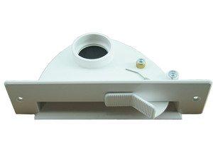 Paletta rifiuti in portafoglio per aspirapolvere centralizzato mordono paletta con meccanismo a levetta VacPan–Scelta di colori possibile–di MicroSafe® bianco
