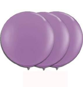 36 Inch Giant Round lavender Latex Balloons by TUFTEX (Premium Helium Quality) Pkg/3
