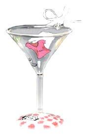 Lolita Martini Glass Christmas Ornament (Martini Ornaments)