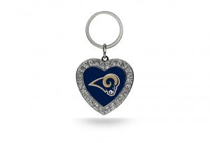 NFL St. Louis Rams Rhinestone Heart (Louis Rams Key)