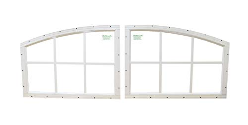 - Arched Transom Shed Windows Set of 2 White Playhouse Storage Shed Outdoor Building