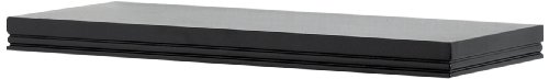 InPlace Shelving 0191421 24-Inch Wide Warwick Bracketless Wall Shelf, Black (Shlf Wall)