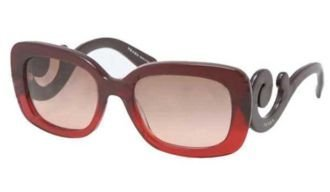 Prada Sunglasses - PR27OS / Frame: Red Gradient Lens: Brown - Sunglasses Baroque Prada