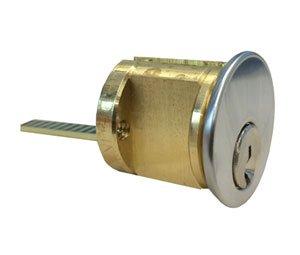 Kaba Ilco 7015SC8-26D-KD 5 Pin Rim Cylinder with Schlage C Keyway - Satin - Pin 5 Rim Cylinder