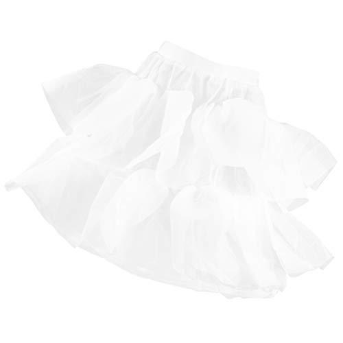 KESYOO Meisjesbanden petticoat bloemenmeisje onderrok voor kinderen eindejaarsbaljurk prinses feest wit